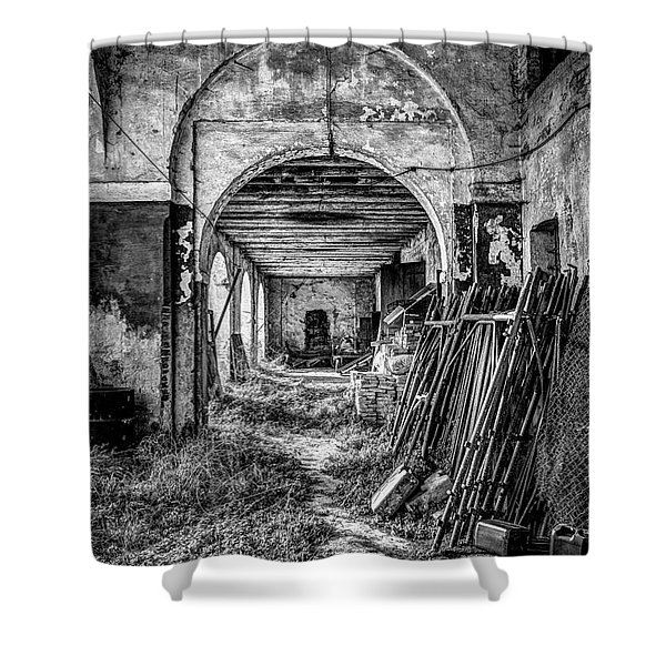 Abandoned Villa Shower Curtain