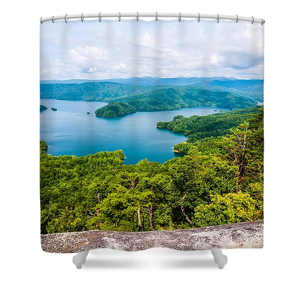 Shower Curtain featuring the photograph Scenery Around Lake Jocasse Gorge by Alex Grichenko