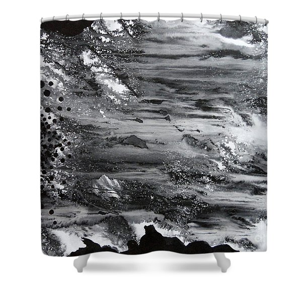 Flowing Water Shower Curtain