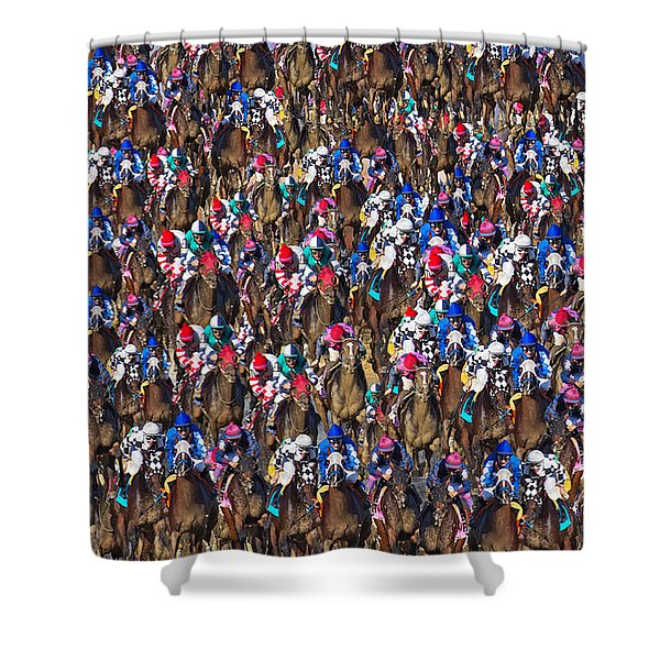 1000 Horses Shower Curtain