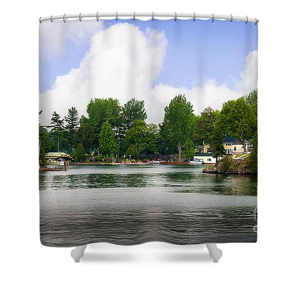 1000 Islands Homes Shower Curtain