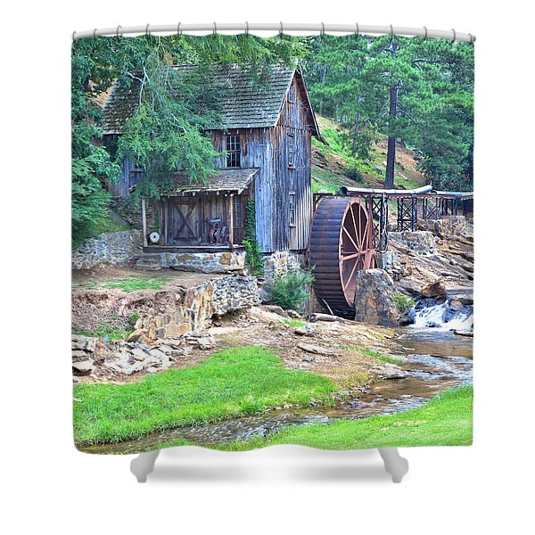 Sixes Mill On Dukes Creek - Square Shower Curtain