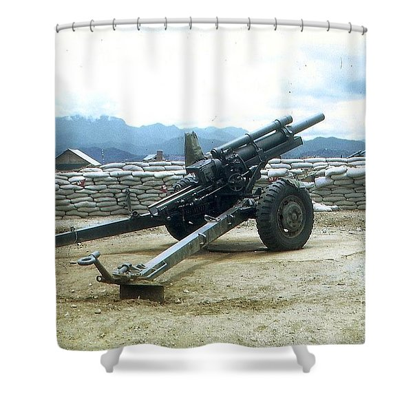 Shower Curtain featuring the photograph 105mm Howitzer by Charles Robinson