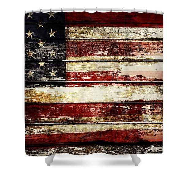 American Flag 33 Shower Curtain