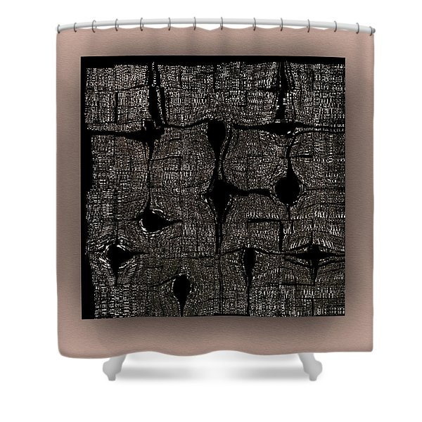 Shower Curtain featuring the digital art Contemporary by Mihaela Stancu