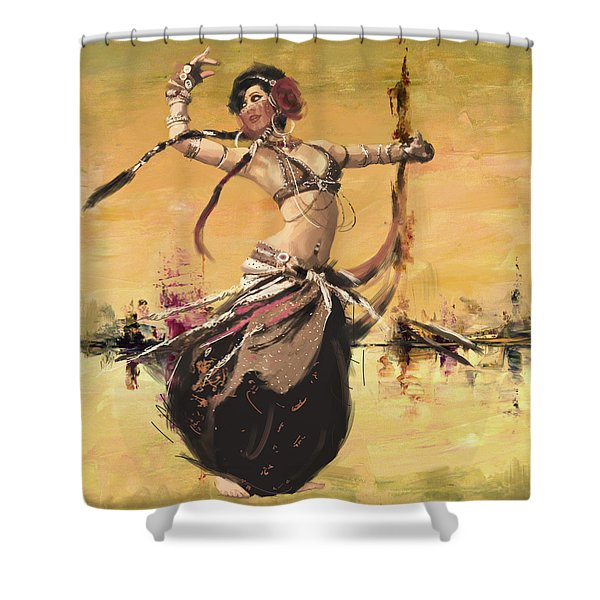Abstract Belly Dancer 14 Shower Curtain