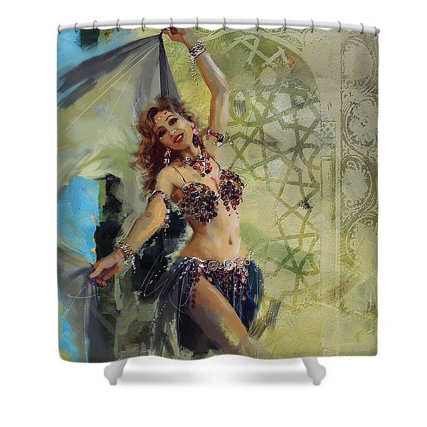 Abstract Belly Dancer 13 Shower Curtain