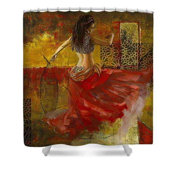 Abstract Belly Dancer 6 Shower Curtain