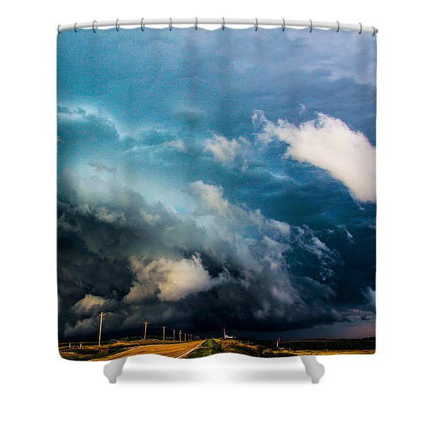 Industrial Light And Nebraska Thunderstorm Magic Shower Curtain