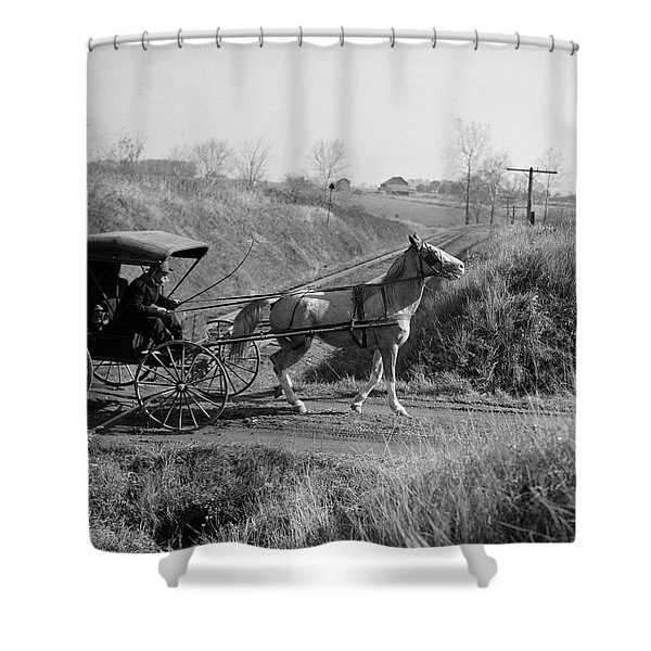 1890s 1900s Rural Country Doctor Shower Curtain