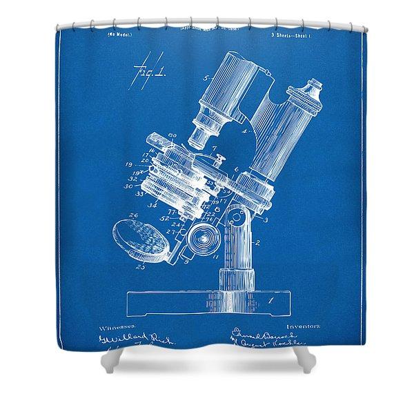1899 Microscope Patent Blueprint Shower Curtain