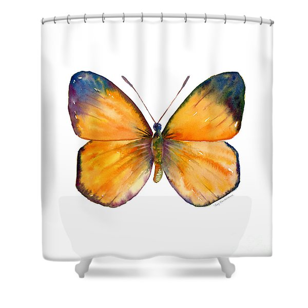 19 Delias Anuna Butterfly Shower Curtain
