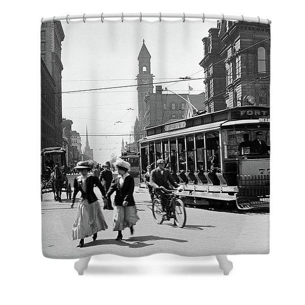 1900s 1910s 1912 Street Scene Shower Curtain