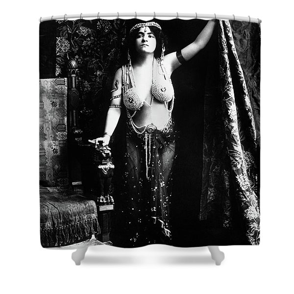1900s 1910s Vamp Wearing A Pearl Shower Curtain