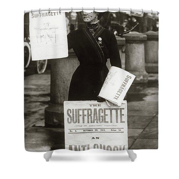 1900s British Suffragette Woman Shower Curtain