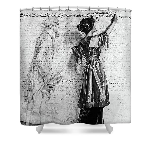 1900s Illustration Of Turn Of The 20th Shower Curtain