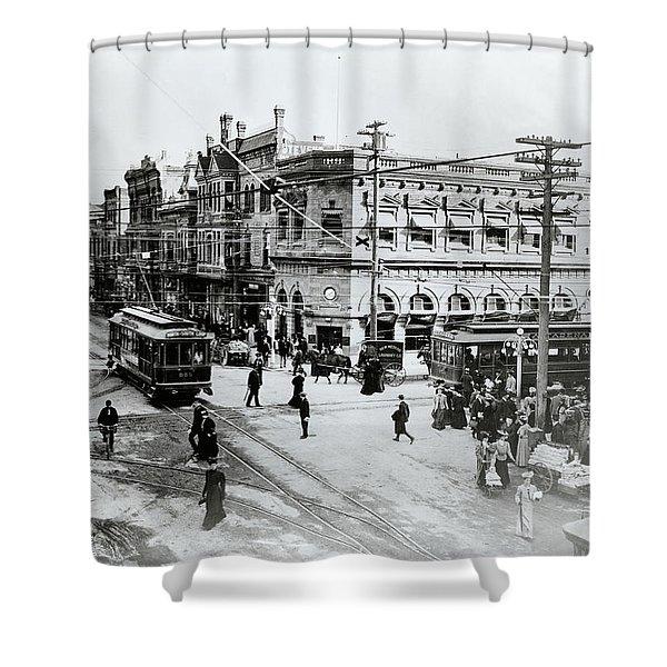 1900s Intersection Of Fair Oaks Shower Curtain