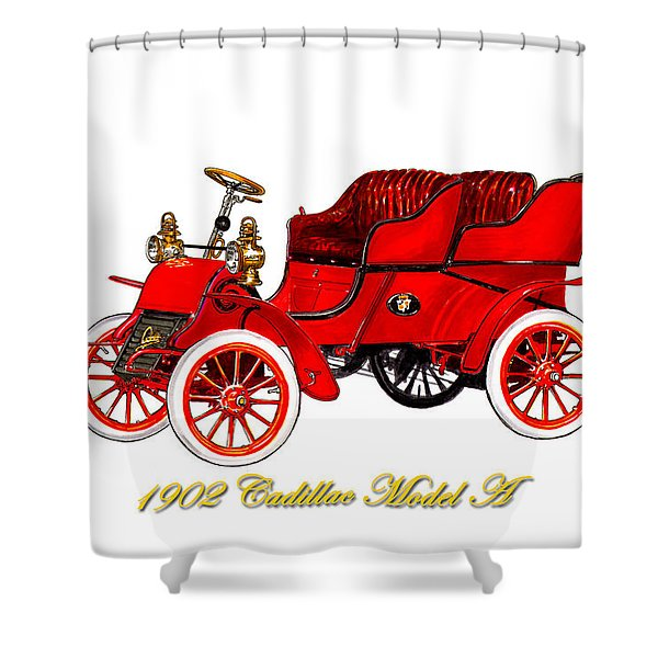 1902 Cadillac Model A Runabout Shower Curtain
