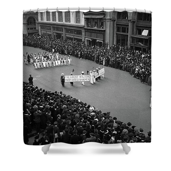 1910s Overhead View Of A Large Crowd Shower Curtain
