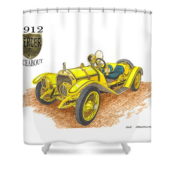 1911 1912 Mercer Raceabout R 35 Shower Curtain