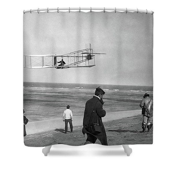 1911 One Of The Wright Brothers Flying Shower Curtain