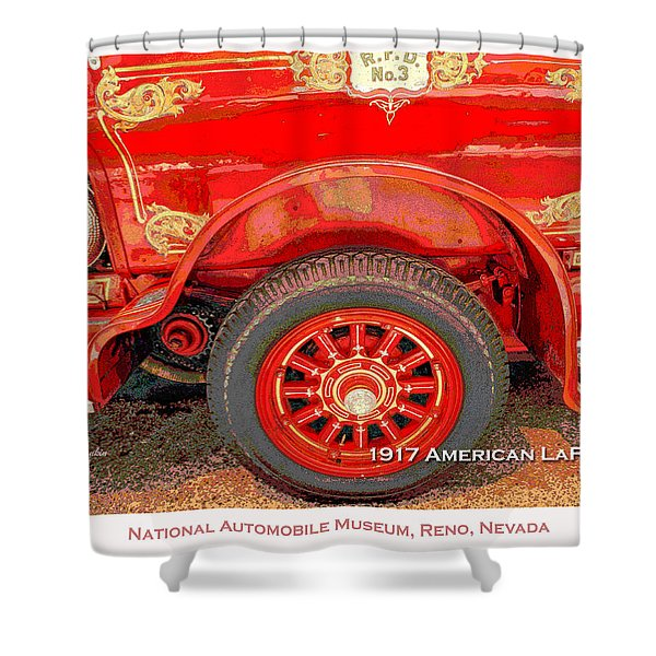 1917 American Lafrance Classic Automobile Fire Engine Shower Curtain