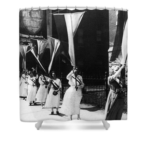 1920 Suffrage Demonstrators Shower Curtain