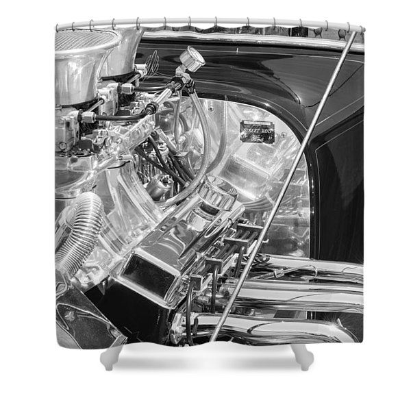 1923 Ford T-bucket Engine 2 Shower Curtain
