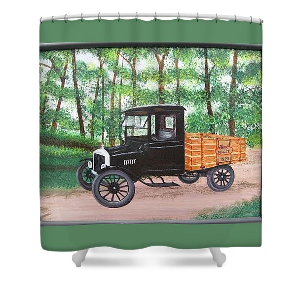 1925 Model T Ford Shower Curtain