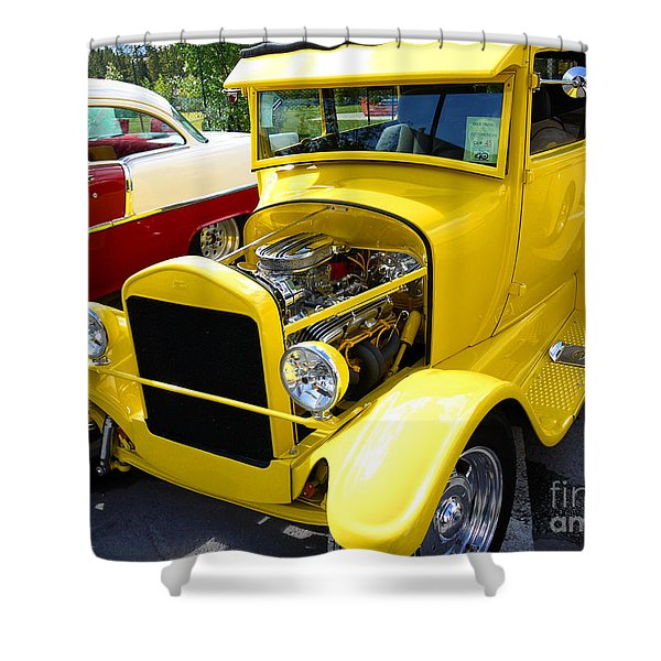 1927 Ford Sedan With Bags Of Style Shower Curtain