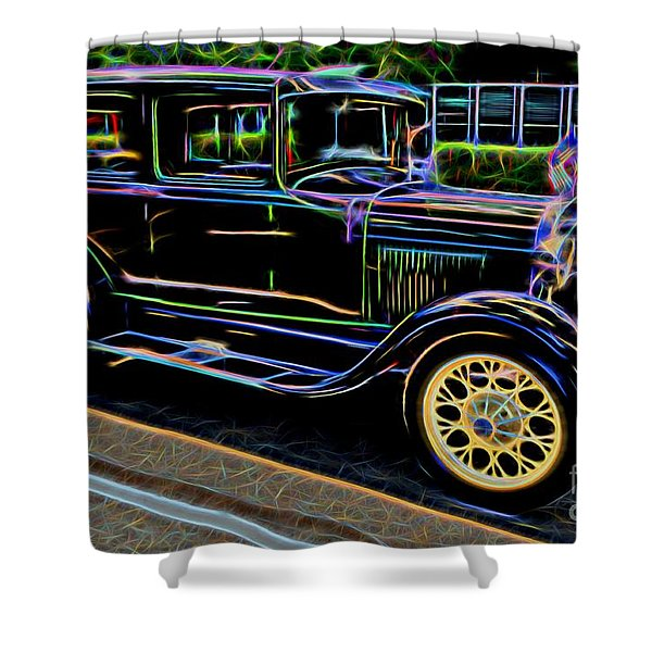 1929 Ford Model A - Antique Car Shower Curtain