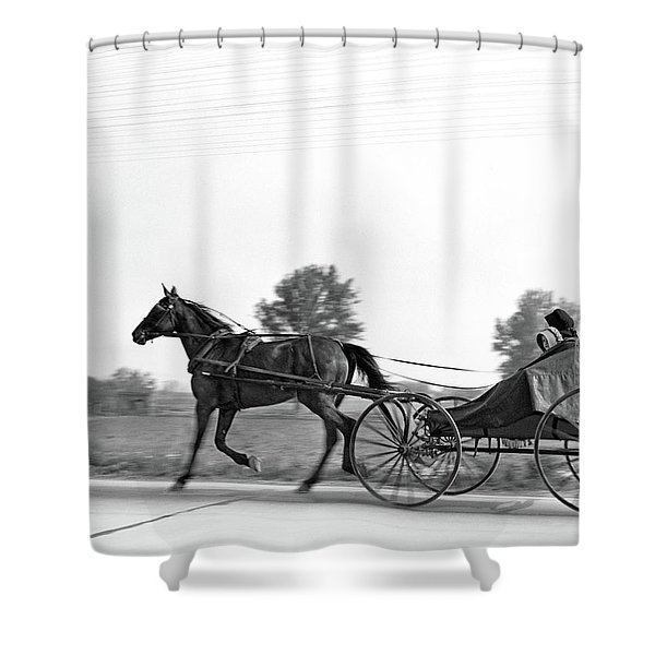 1930s Amish Woman And Child Riding Shower Curtain