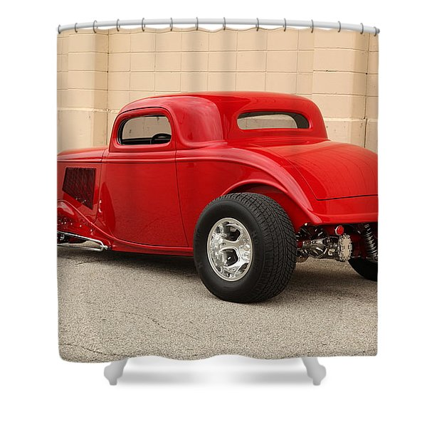 1933 Ford Coupe Street Rod Shower Curtain