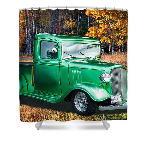 1934 Chev Pickup Shower Curtain