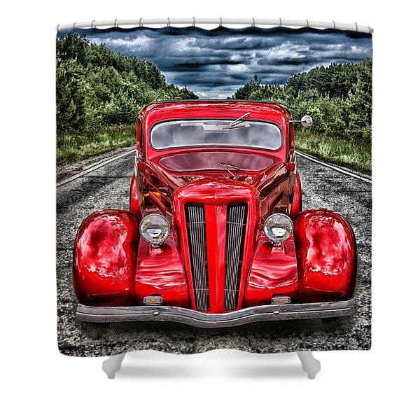 1935 Ford Window Coupe Shower Curtain
