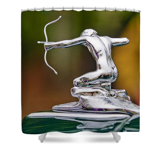1935 Pierce-arrow 845 Coupe Hood Ornament Shower Curtain