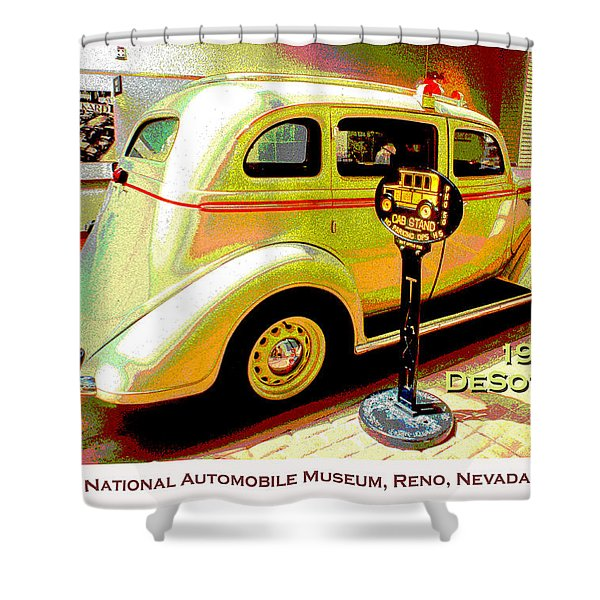 1936 Desoto Taxi Classic Automobile  Shower Curtain
