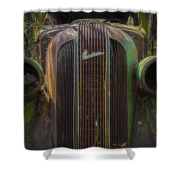 1936 Pontiac Head On Shower Curtain
