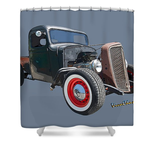1936 Rat Rod Chevy Pickup Shower Curtain