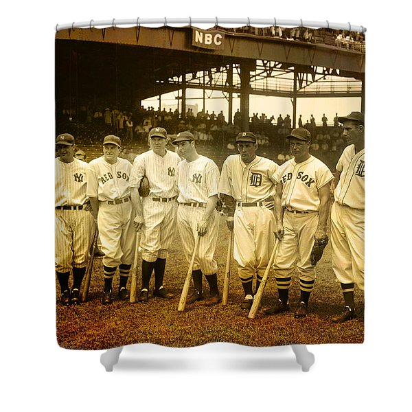 1937 All Stars Shower Curtain