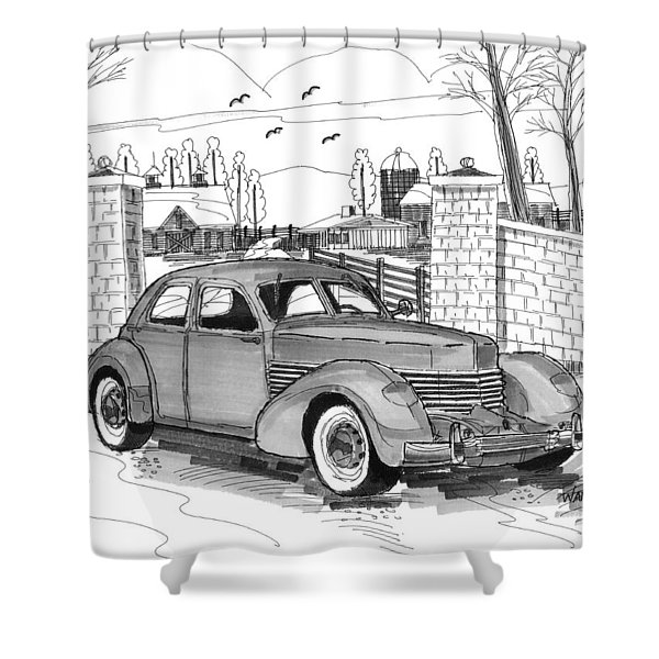 1937 Cord 812 Shower Curtain