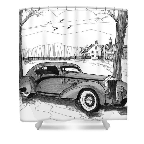 1937 Delage D8 120 Shower Curtain