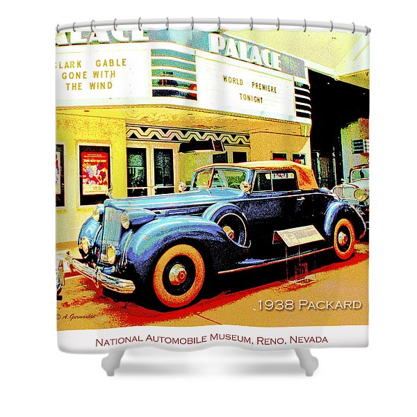 1938 Packard Classic Automobile Shower Curtain