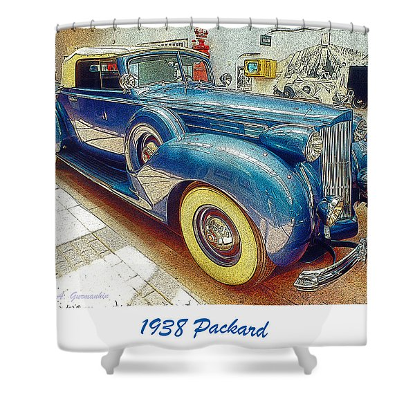 1938 Packard National Automobile Museum Reno Nevada Shower Curtain