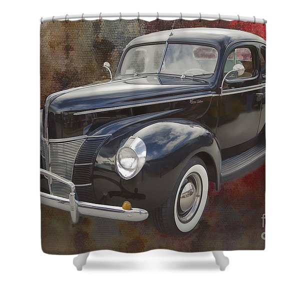 1940 Ford Deluxe Photograph Of Classic Car Painting In Color 319 Shower Curtain