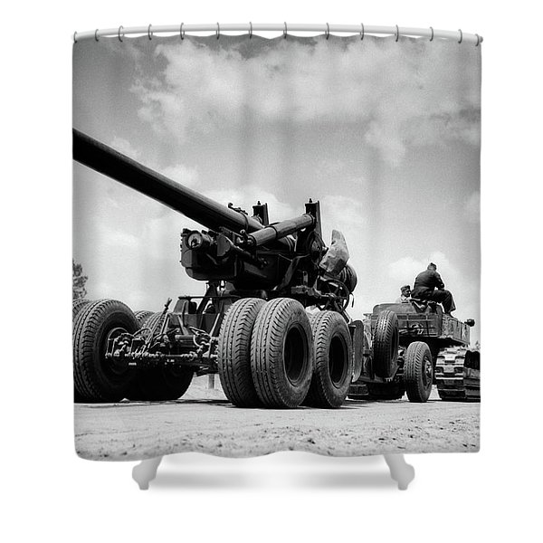1940s Army Track Laying Vehicle Shower Curtain