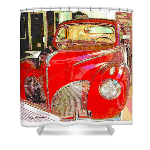 1941 Lincoln Zephyr Automobile  Shower Curtain