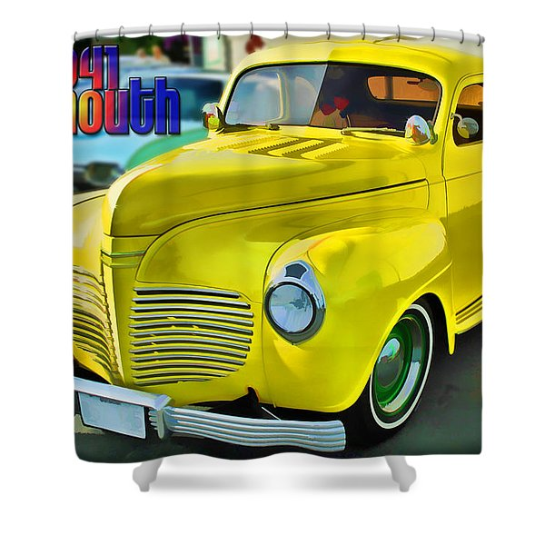 1941 Plymouth Shower Curtain