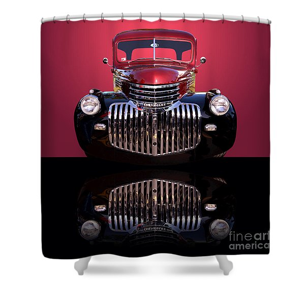 1946 Chevy Panel Truck Shower Curtain