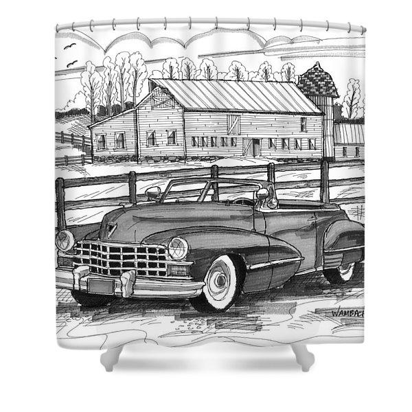 1947 Cadillac Model 52 Shower Curtain